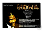 Handbill for Monk by Laurence Holder, Music by Bill Lee, produced by the National Black Theater Festival at the Wake Forest Ring Theatre, Winston-Salem, NC, August 5-6, 2003