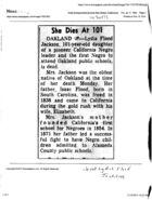 She Dies at 101