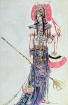 Costume Design for 'Montezuma', from the Operetta by Cecil Lewis (w/c and pencil on paper) on paper)