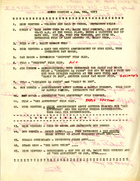 Agenda for SPREE Meeting, January 9, 1973 with Handwritten Notes