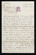 Letter from Francis Russell to Samuel Pratt Winter, January 21, 1875