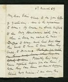 Letter from Robert Anderson to Edith Thompson, March 8, 1889