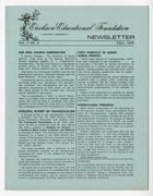 Erickson Educational Foundation Newsletter: Volume 3, Number 2, Fall-1970