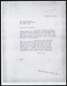 Copy of Letter from Ruth Benedict to Dr. Harry Bakwin, October 21, 1936