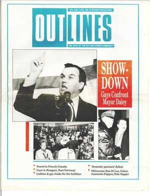 Outlines, The Voice of the Gay and Lesbian Community, Vol 3 No. 7, Dec. 1989