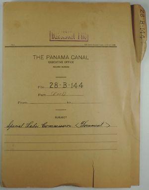 Folder: Panama Canal Executive Office, Record Bureau - File 28-B-144 - Special Labor Commission
