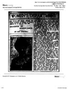 Women's Department: Incidents of Significance