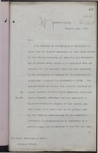 Letter from T. H. Sanderson to Under Secretary of State, Colonial Office, October 19, 1897