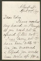 Letter from S.A. Howitt to Edith Thompson, April 2, 1897
