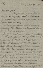 Copy of a Letter from Thomas McIlwraith to Robert Logan Jack, April 22, 1881