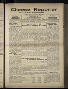 Cheese Reporter, Vol. 54, no. 10, Saturday, November 16, 1929