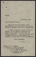 Letter from P. J. Harrop to M. W. Thring, February 17, 1958