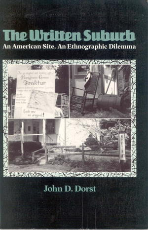 The Written Suburb: An American Site, An Ethnographic Dilemma