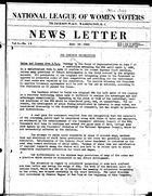 News Letter, vol. 1 no. 19, June 10, 1935