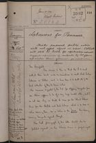 Correspondence Cover Sheet re: Labourers for Panama, October 14, 1892