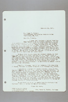 Letter from Helen Fowler to James Victory, February 14, 1957