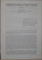 Congrès International de Sexologie Médicale - International Congress of Medical Sexology (Clinical Program: The Clinic for Sexual Counseling, Therapy and Rehabilitation - Programme Clinique) - Paris 1974