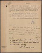 Communication with Edmund G. Harwood and Maurice I. Hutton, 1946