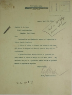 Cover Letter from Roy R. Watson to Chief Quartermaster R. E. Wood; plus Report from Assistant District Quartermaster V. Shepherd to R. R. Watson re: Silver Quarter Housing Conditions, April 1914