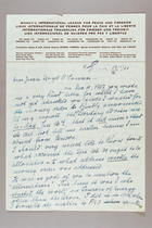 Letter from Gertrude Baer to Jessie Lloyd O'Connor, January 16, 1958