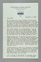 Letter from Clara Davies Brown to Ruth Lois Hill, November 4, 1958