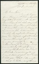 Letter from James Winter to Samuel Pratt Winter, December 20, 1853