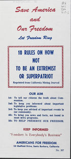 10 Rules on How Not to be an Extremist or Superpatriot