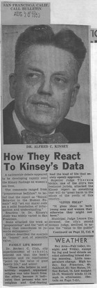 How They React to Kinsey's Data