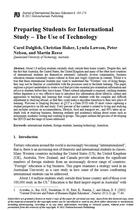 Preparing Students for International Study – The Use of Technology
