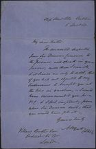 Letter from A. F. W. Wyatt to Brother, December 5, 1868