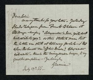 Letter to Edith Thompson, July 13, 1888