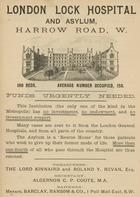 Advertisement for London Lock Hospital and Asylum, Harrow Road, London (engraving)
