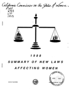 1988 Summary of New Laws Affecting Women