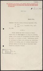 Decypher from Beilby Alston re: Remittances from France to China, September 17, 1917