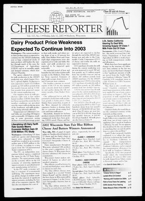 Cheese Reporter, Vol. 127, No. 1, Friday, July 12, 2002