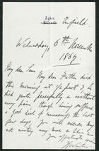 Letter from James Winter to Samuel Pratt Winter, November 6, 1867
