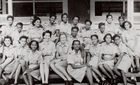 Group Portrait of West Indian Detachment of the Auxiliary Territorial Service, 1943 (b/w photo)