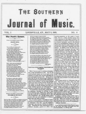 The Southern Journal of Music,  Vol. 1, no. 8, May 2, 1868