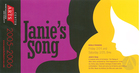 Flyer for JANIE'S SONG, by Ed Bullins, produced by Northeastern University, Boston, MA, February 24 & 25, 2006