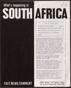 What's Happening In South Africa, April 1964 (Pg.Int.Ab.3.Iii)