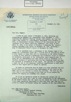 Letter from Commissioner Leland H. Hewitt to Ruth Mason Hughes re: Chamizal Border Dispute with Mexico, December 13, 1954