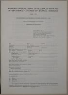 Congrès International de Sexologie Médicale - International Congress of Medical Sexology (Confidential Questionnaire For Teachers of Human Sexuality - 1969) - Paris 1974