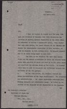 Letter from W. A. Smart to Secretary of State for Foreign Affairs, March 1, 1926