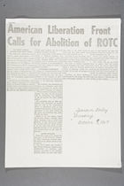 American Liberation Front Calls for Abolition of ROTC