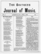 The Southern Journal of Music,  Vol. 1, no. 7, April 4, 1868