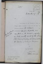 Memo from T. H. Sanderson to Under Secretary of State, Colonial Office, re: Indigent Foreigners Prohibited from Landing in Santiago de Cuba, November 29, 1898