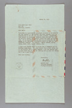 Letter from Austra Root to Ruth Lois Hill, March 19, 1953