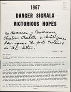 1967: Danger Signals, Victorious Hopes