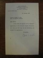 Claude E. Buxton to Norman S. Buck, January 25, 1961