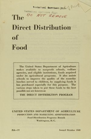The Direct Distribution of Food